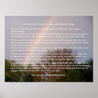 Rainbow Bridge Poem Customizable Gifts Poster