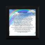 """Rainbow Bridge Poem Keepsake Box<br><div class=""""desc"""">A great gift for someone who has lost a pet recently.</div>"""