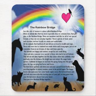 Rainbow Bridge Poem Mouse Pad