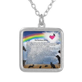 Rainbow Bridge Poem Square Pendant Necklace