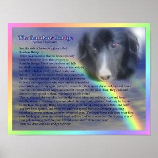 Rainbow Bridge Poem Pet Loss Memorial Poster