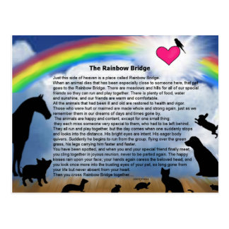 Rainbow Bridge Poem Postcard