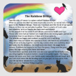 Rainbow Bridge Poem Square Sticker