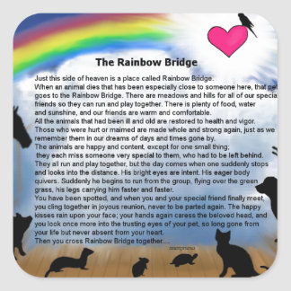 Rainbow Bridge Poem Square Sticker