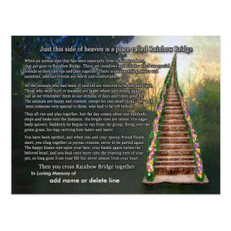Rainbow Bridge Poem Sympathy Card Postcards