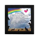 Rainbow Bridge Poem Trinket Boxes
