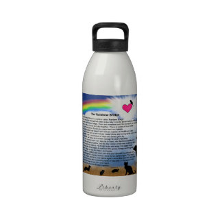 Rainbow Bridge Poem Reusable Water Bottles