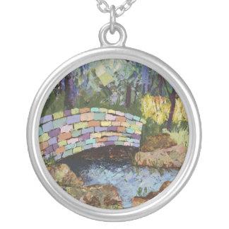 Rainbow Bridge Round Pendant Necklace
