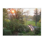 Rainbow Bridge Sunset at Grove City College Acrylic Print