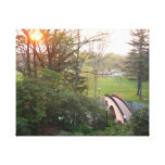Rainbow Bridge Sunset at Grove City College Canvas Print
