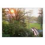 Rainbow Bridge Sunset at Grove City College Card