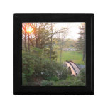 Rainbow Bridge Sunset at Grove City College Keepsake Box
