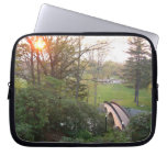 Rainbow Bridge Sunset at Grove City College Laptop Sleeve