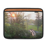 Rainbow Bridge Sunset at Grove City College MacBook Air Sleeve