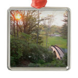 Rainbow Bridge Sunset at Grove City College Metal Ornament