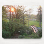 Rainbow Bridge Sunset at Grove City College Mouse Pad