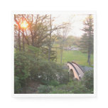 Rainbow Bridge Sunset at Grove City College Napkin