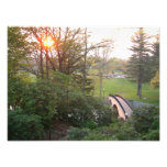 Rainbow Bridge Sunset at Grove City College Photo Print