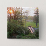Rainbow Bridge Sunset at Grove City College Pinback Button