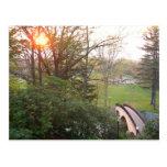 Rainbow Bridge Sunset at Grove City College Postcard