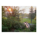 Rainbow Bridge Sunset at Grove City College Poster