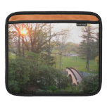 Rainbow Bridge Sunset at Grove City College Sleeve For iPads