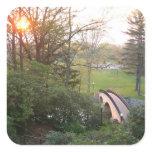 Rainbow Bridge Sunset at Grove City College Square Sticker