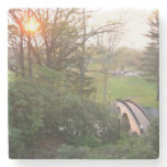 Rainbow Bridge Sunset at Grove City College Stone Coaster