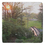 Rainbow Bridge Sunset at Grove City College Trivet