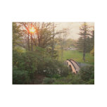 Rainbow Bridge Sunset at Grove City College Wood Poster