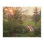 Rainbow Bridge Sunset at Grove City College Wood Print