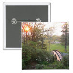 Rainbow Bridge Sunset Grove City College Photo Pinback Button