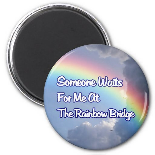 RAINBOW BRIDGE SYMPATHY MEMORIAL MAGNET