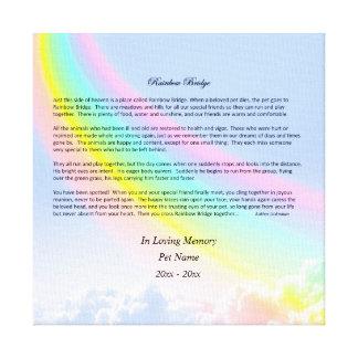 Rainbow Bridge Sympathy Wrapped Canvas, MALE Pet Canvas Print