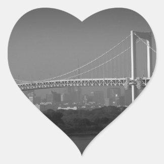 Rainbow Bridge Tokyo Heart Sticker