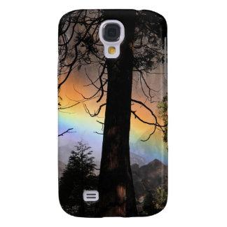 Rainbow bright behind a tree. samsung galaxy s4 covers