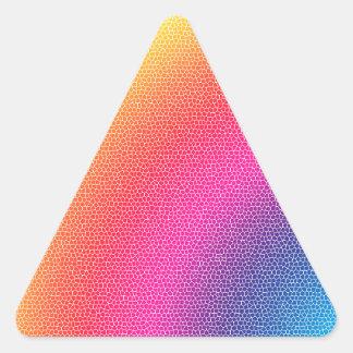 Rainbow Bright Bold Gifts Triangle Sticker