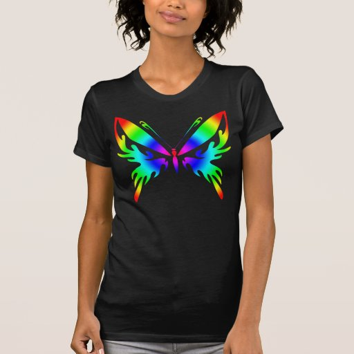 Rainbow Bright Butterfly T Shirts