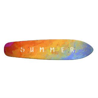 Rainbow bright colorful gradient pattern skateboard