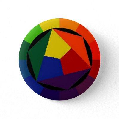 RainBow Bright - Gay Symbol Button by gacatmandu
