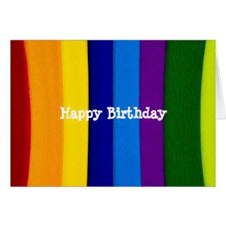Rainbow bright stripes card
