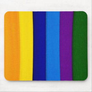 Rainbow bright stripes mouse pad