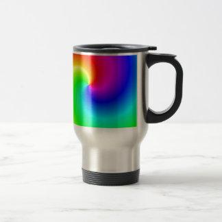 Rainbow bright swirls travel mug