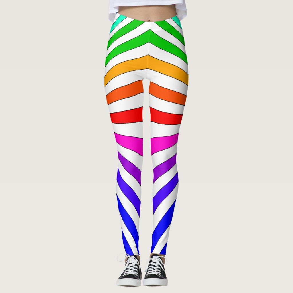 Rainbow Brights Pop Art Trendy Fashion Leggings