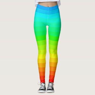 Rainbow Brights Trendy PRIDE Diversity Fun Leggings