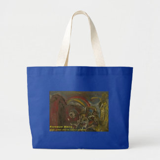 Rainbow Brite Large Tote Bag