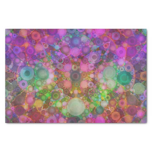 "Rainbow Bubble Abstract 10"" X 15"" Tissue Paper"