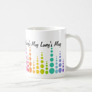 Rainbow Bubble Dots Classic White Coffee Mug
