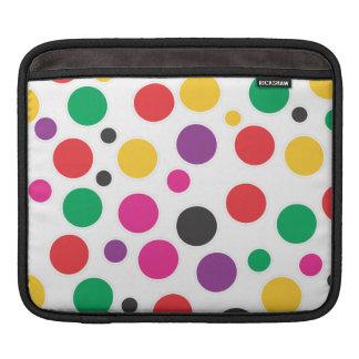 Rainbow Bubble Gum polkadot iPad Sleeves