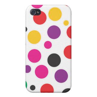 Rainbow Bubble Gum polkadot iPhone 4 Covers